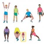 Statikus nyújtógyakorlatok edzés után