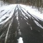 Egy kis havas utacska, futni attól még lehet!