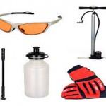 Napszemüveg, kulacs a folyadéknak, pumpa, kesztyű