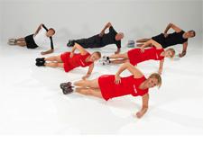 Erőedzés, sajátsúllyal. Oldalt fekvés, alkartámasz, csípő emelés, nem könnyű! Erősíti a hátizmaidat, ne karból, hanem csipő- comb- és fenékizomból emelj! Feszítsd meg a fenék- és combizmaidat, úgy végezd a gyakorlatot!