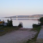 A hajnal a Balatonnál, friss, nyugodt, szép...