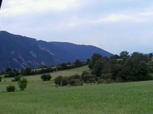 Az a bizonyos szép zöld fű..a háttérben pedig az Alpok